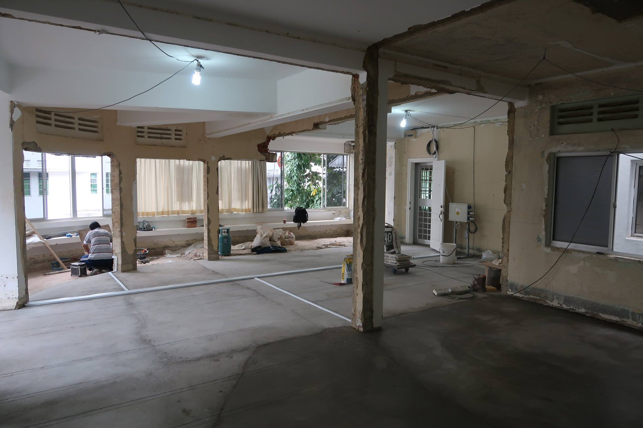 The interior view of Ed Poole's new space within the Tiong Bahru conservation estate (while it was being renovated). All Images: Ed Poole
