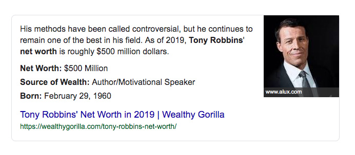 Motivational speaking and workshop sales, the proven path to humongous wealth. Don't bother reinventing the wheel, just model after those who've already paved the way…