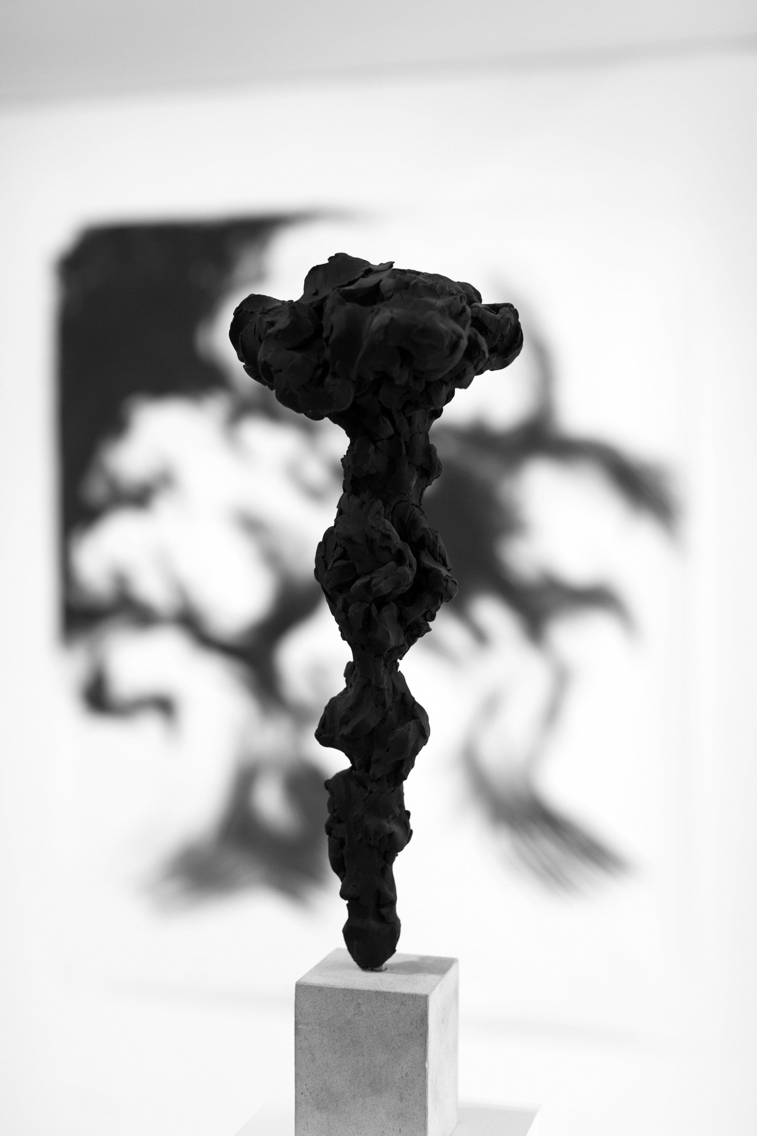 Black Totem No.4,  installation shot