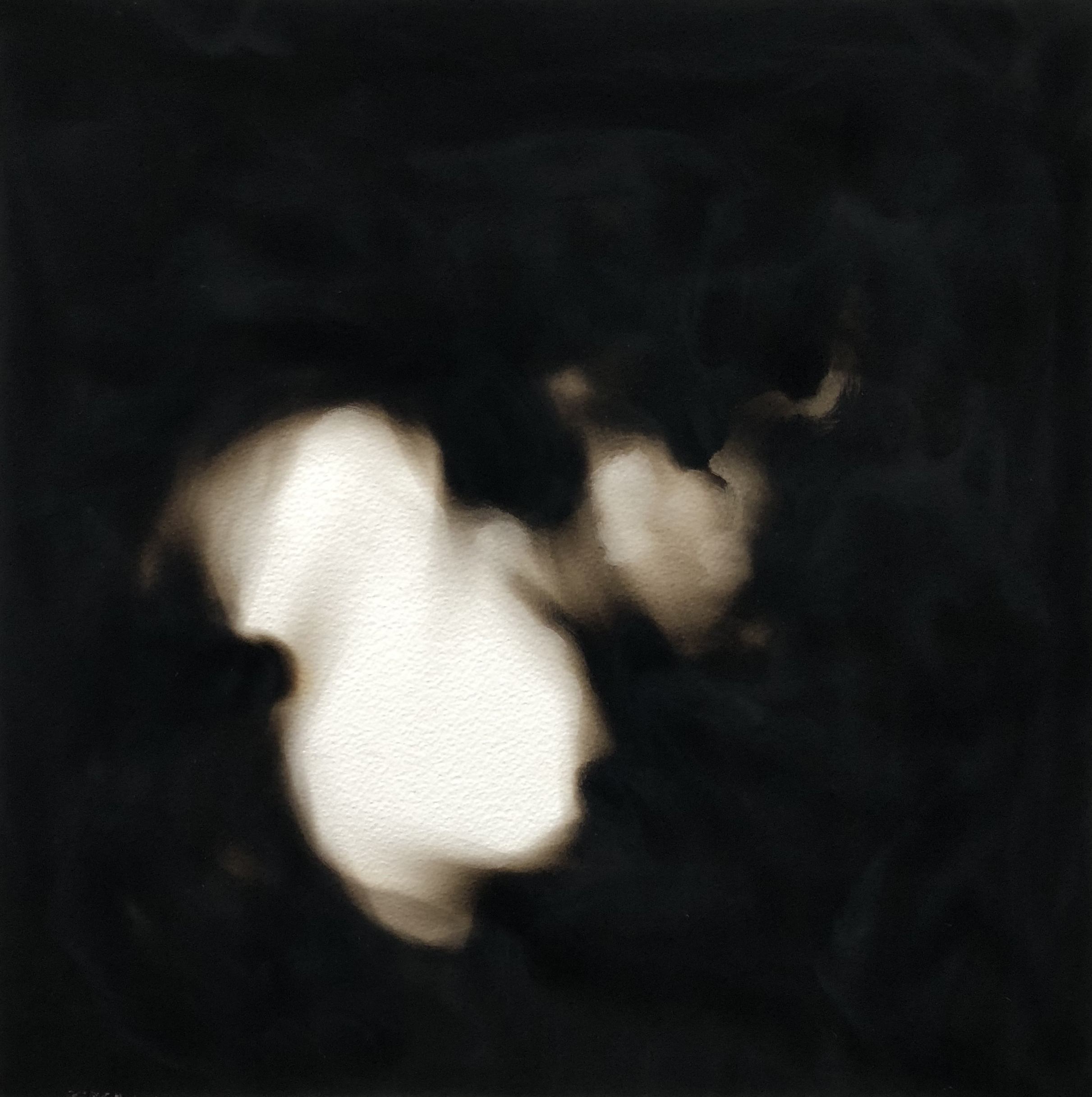 Equivalents , 2018  Candle soot on paper 40 x 40 cm