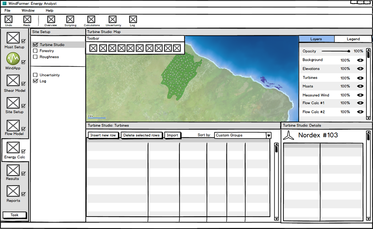 Balsamiq UI mockups from our early design spike