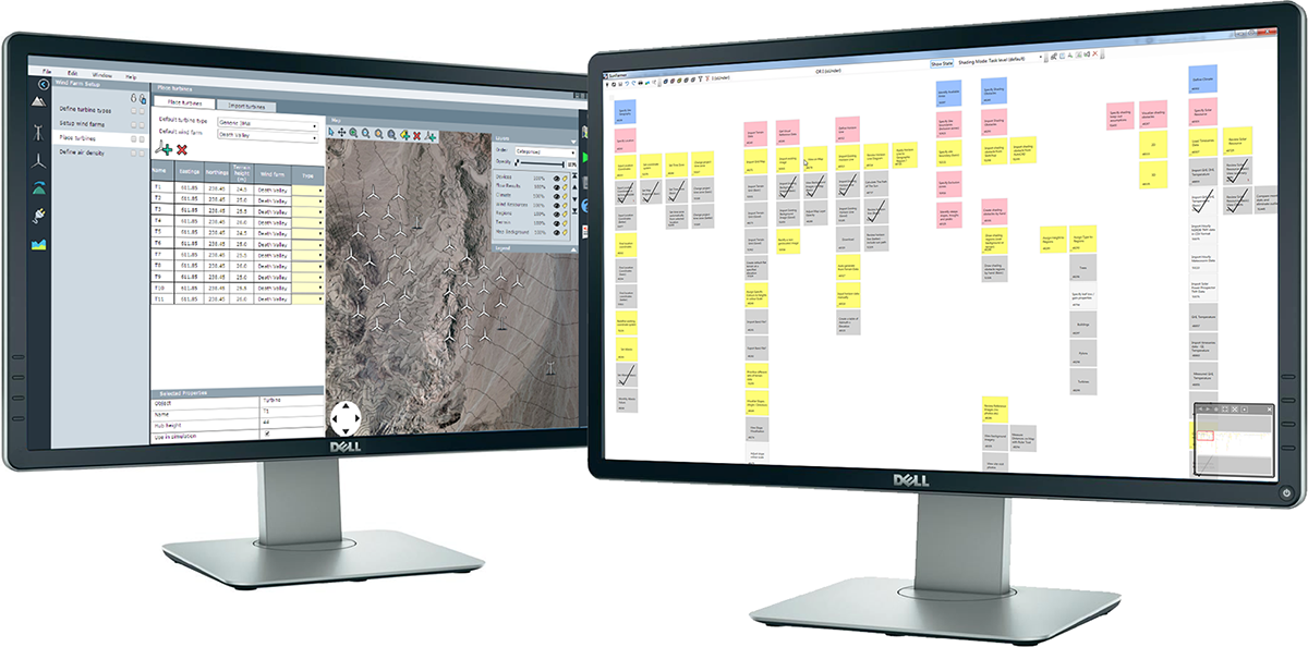 An Axure prototype and digitised story map pairing, providing developers with clear information to work from