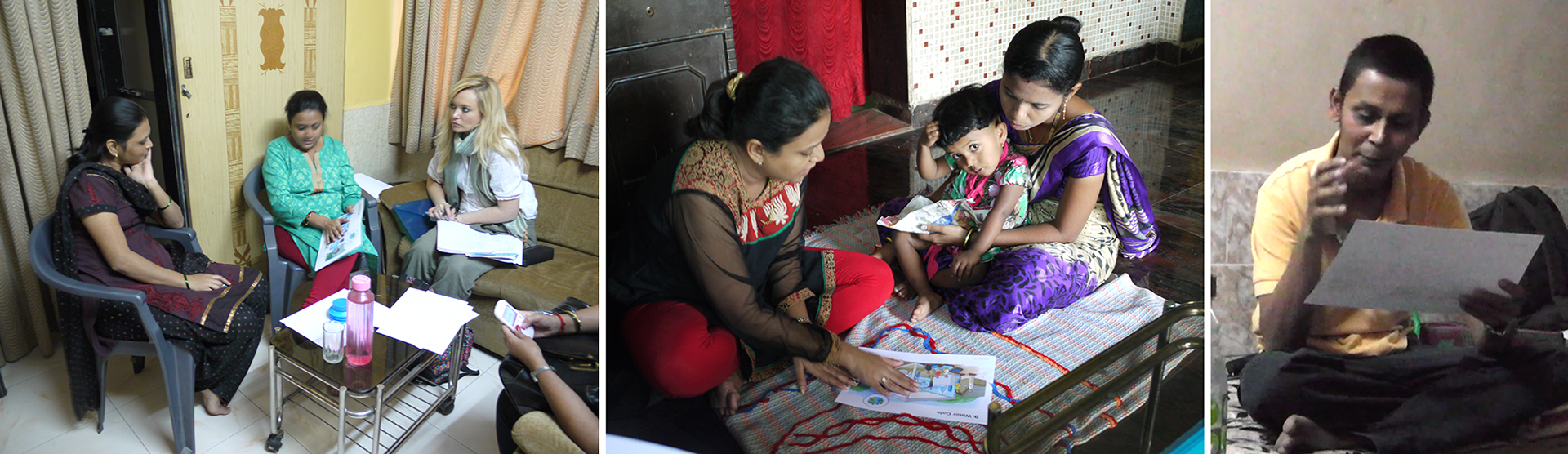 Whilst carrying out contextual interviews in households in Mumbai and surrounding villages, we tested early service concepts with customers, communicated via sketch storyboards