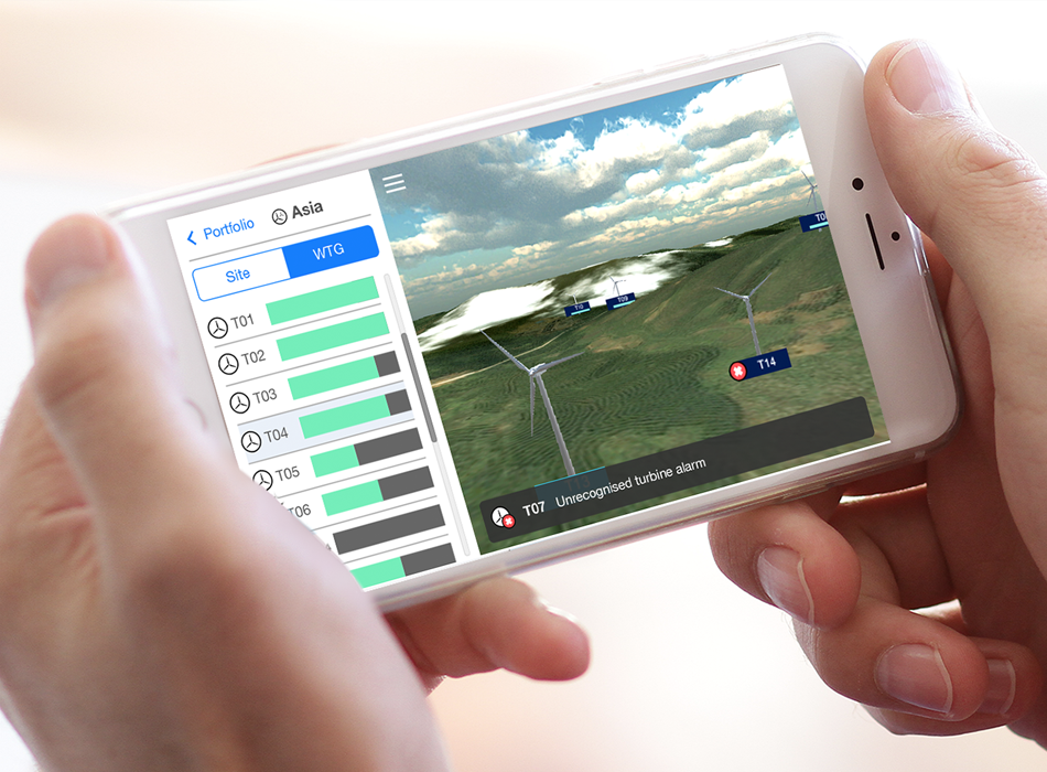 Portfolio Manager 3D:  iPhone Wind-farm monitoring app