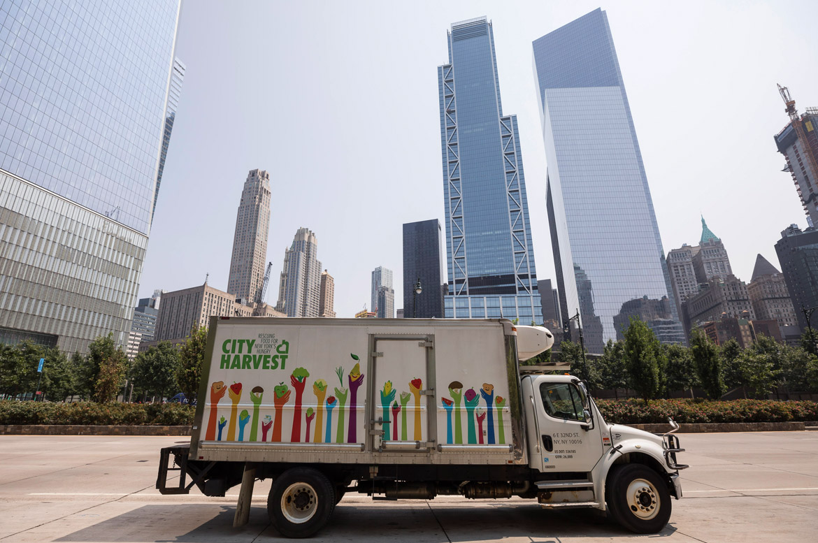"City Harvest - ""City Harvest is New York City's largest food rescue organization, helping to feed the more than 1.2 million New Yorkers who are struggling to put meals on their tables. We will rescue 61 million pounds of food this year and deliver it, free of charge, to hundreds of food pantries, soup kitchens and other community partners across the five boroughs""."