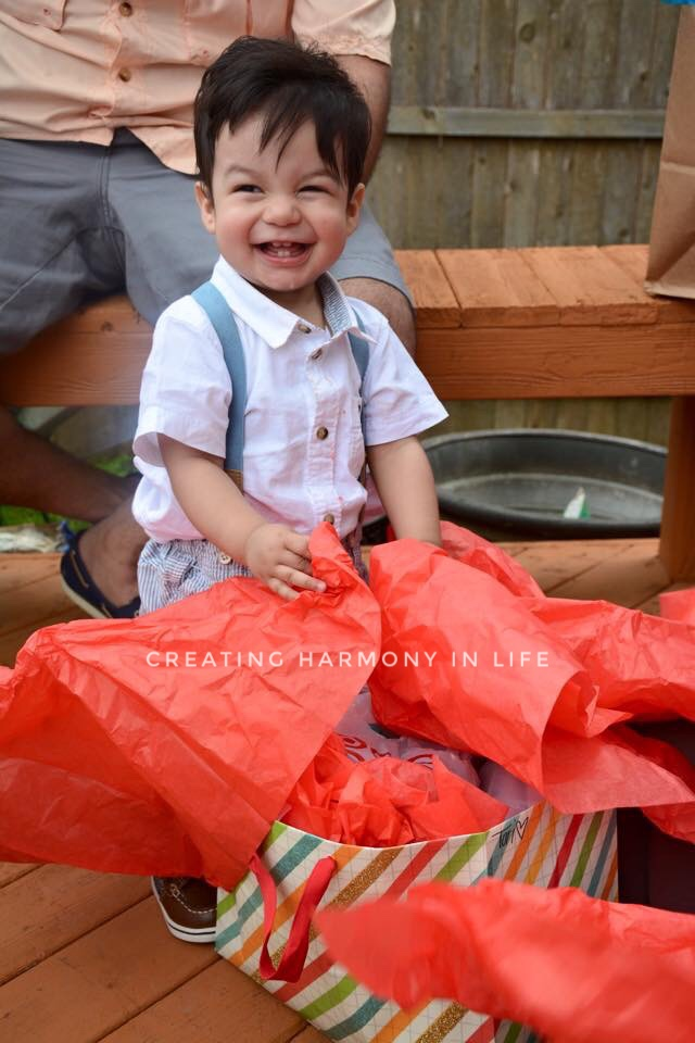 And this was what made him the happiest that day: tissue paper.