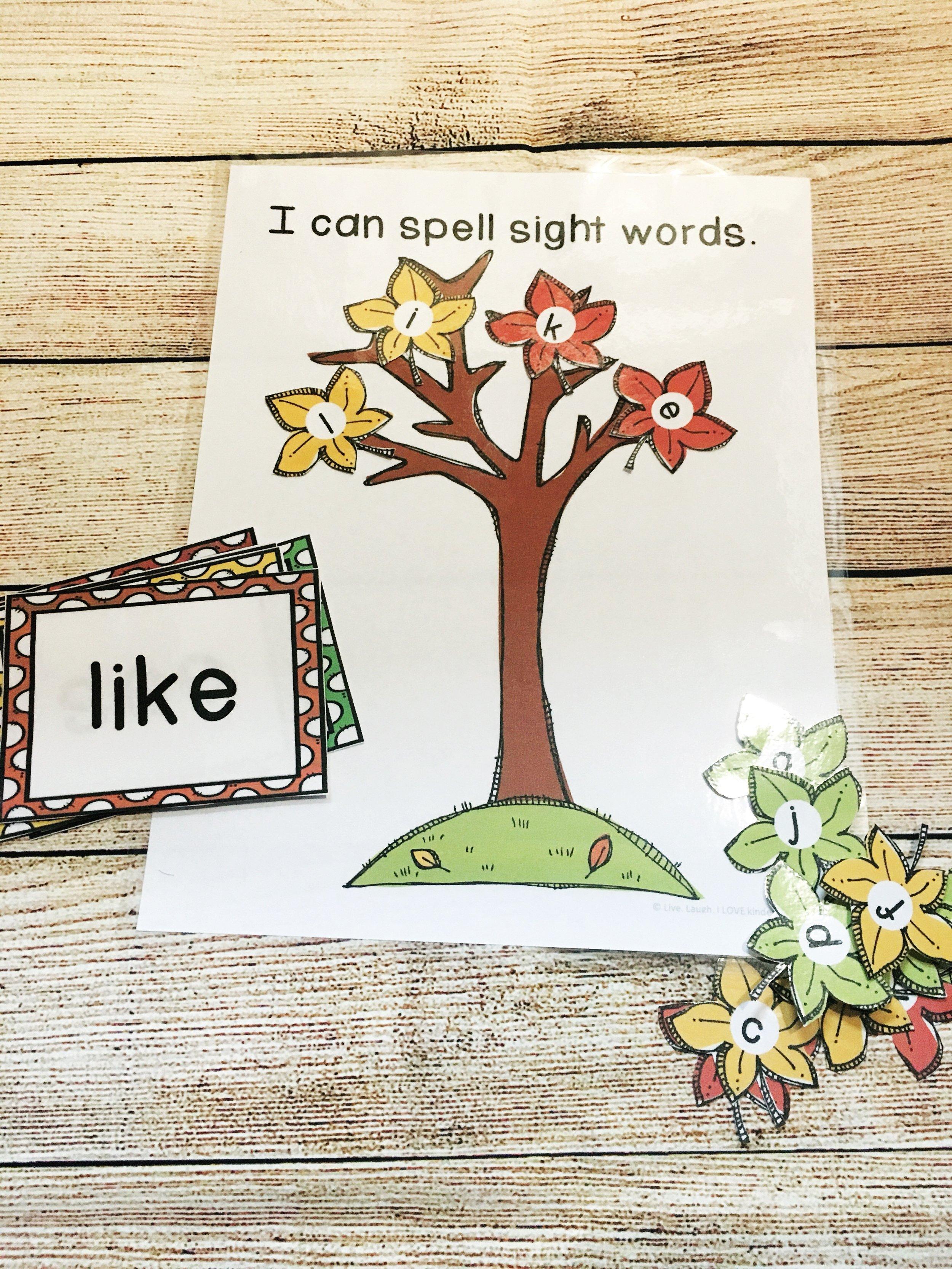 Fall Sight Word Activities  from @livelaughilovekindergarten