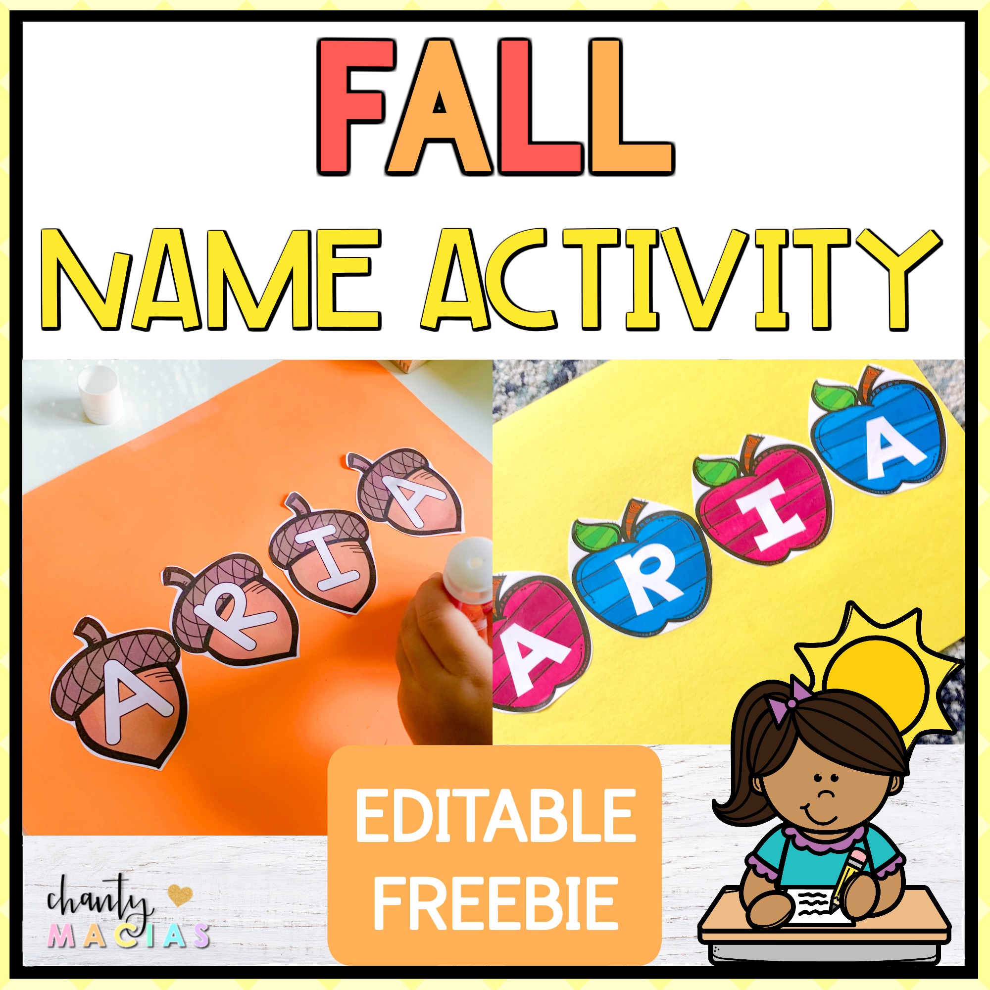 Fall Name Activity  from @iteachfromtheheart