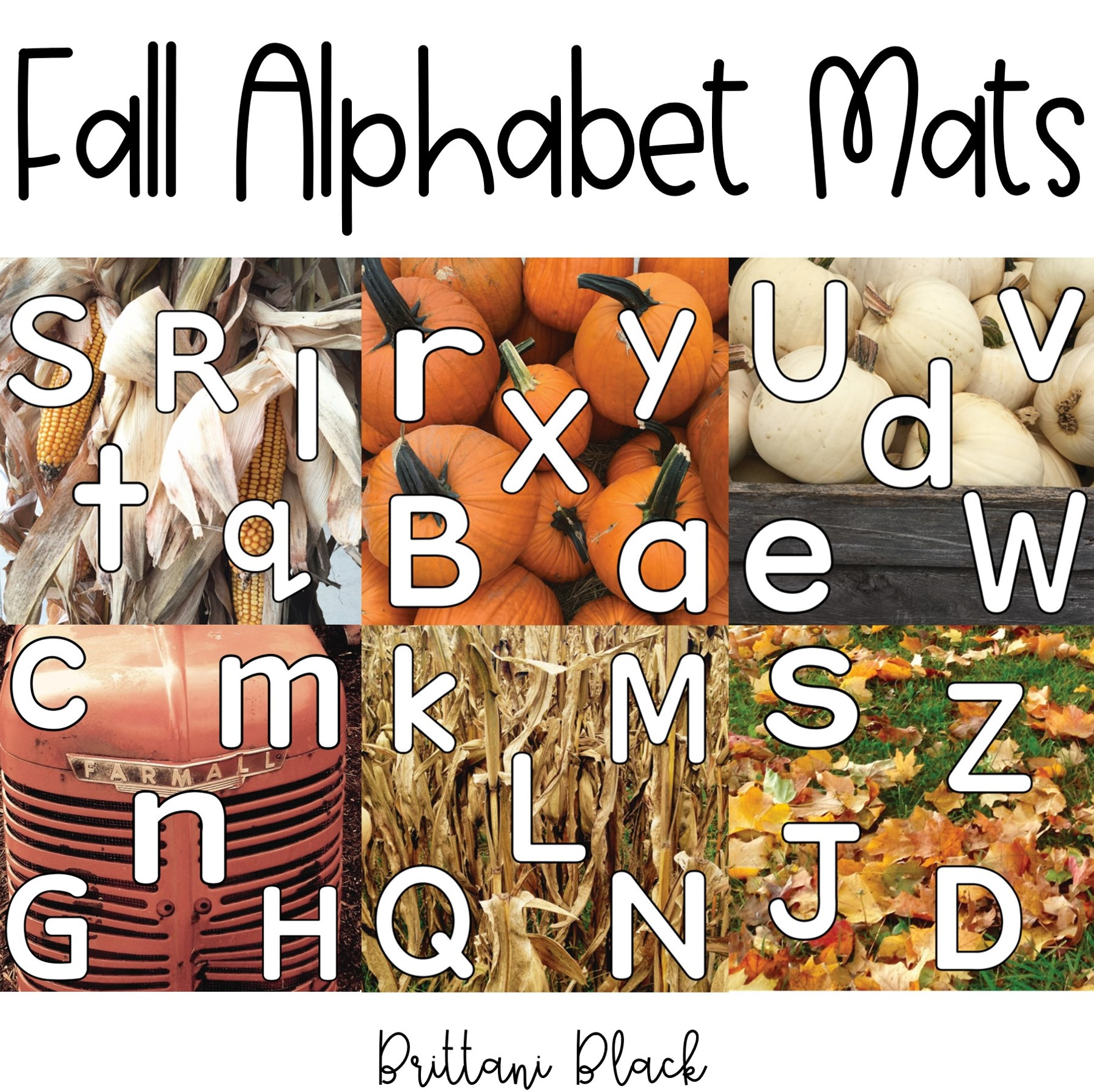 Fall Alphabet Tracing Mats  from @mrsblacksbees