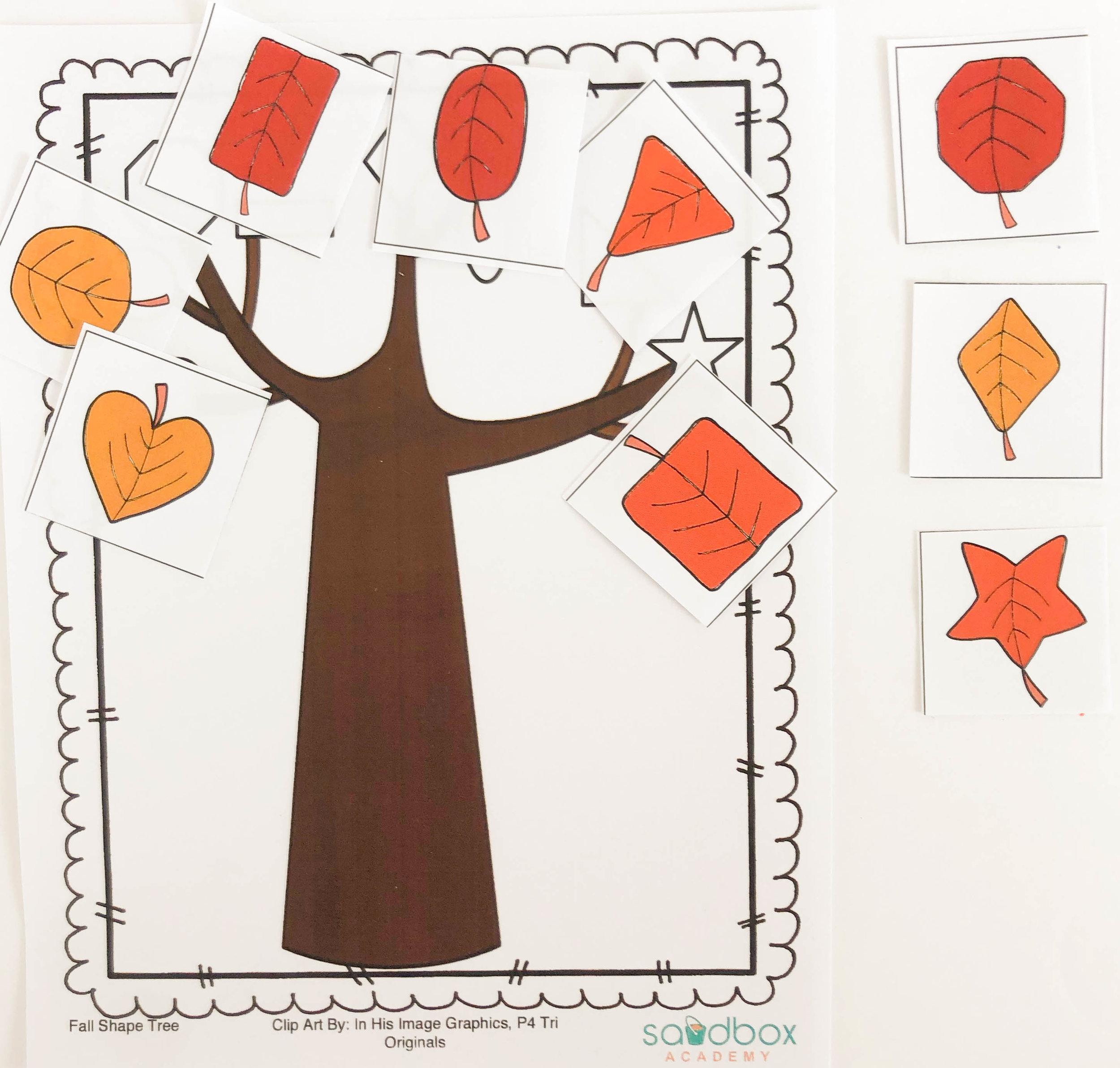Fall Shape Tree  from @sandboxacademy