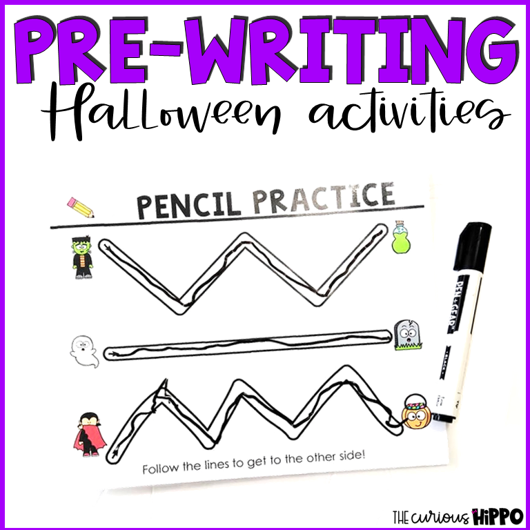Pre-Writing Halloween Activities  from @thecurioushippo