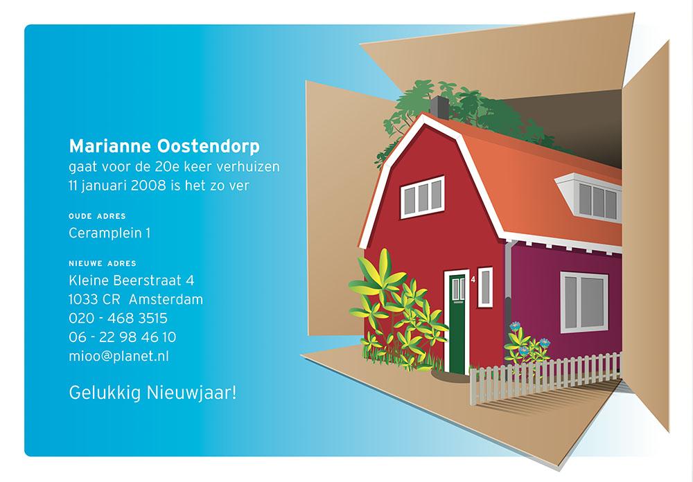 Illustratie verhuiskaart
