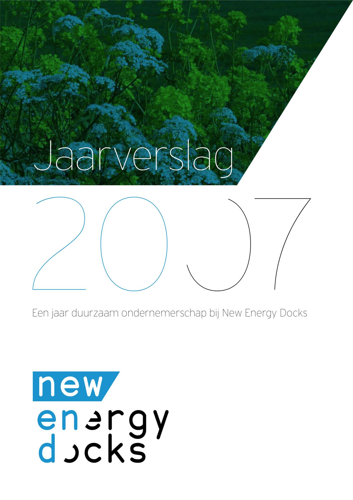 Cover jaarverslag New Energy Docks (A4)