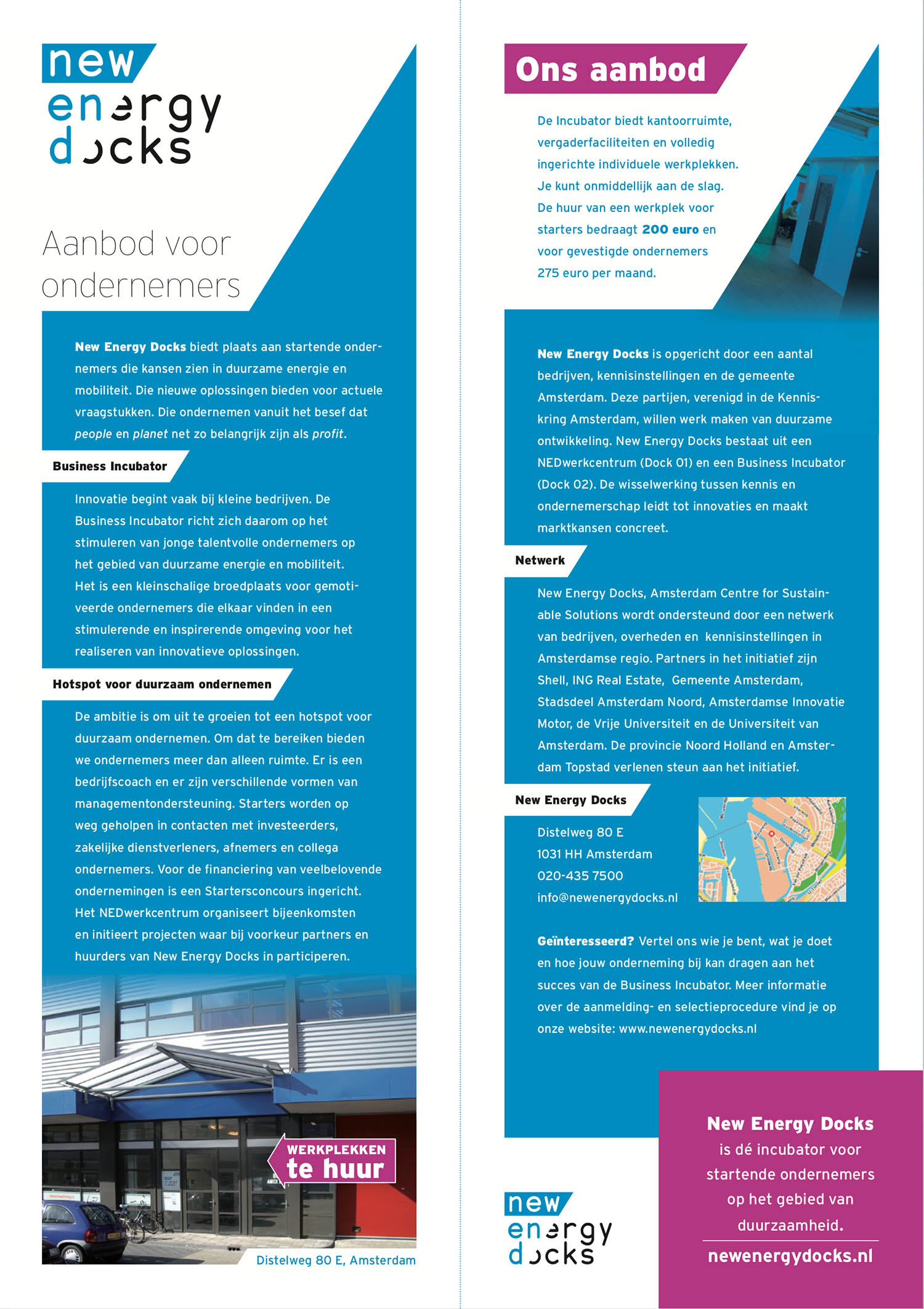 Flyer New Energy Docks (half A4)