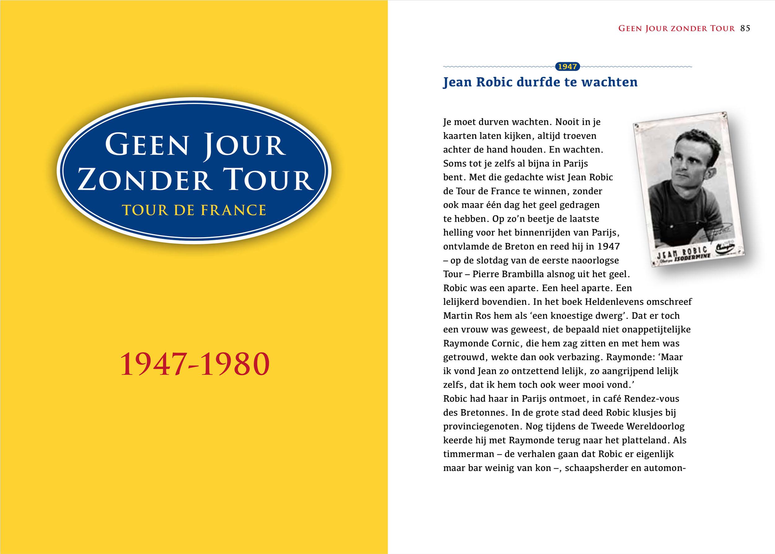Geen Jour Zonder Tour (binnenwerk, hoofdstuk)
