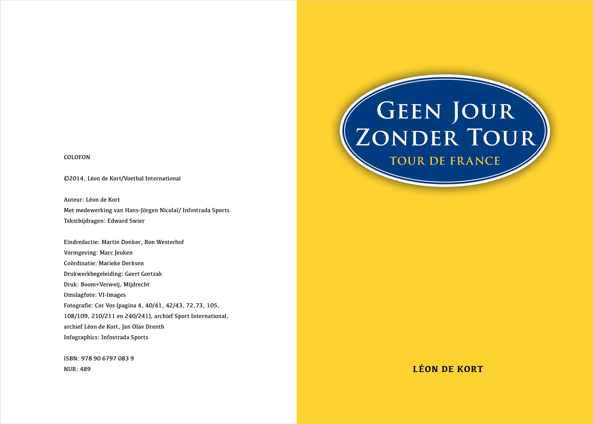 Geen Jour Zonder Tour (colofon, titel)