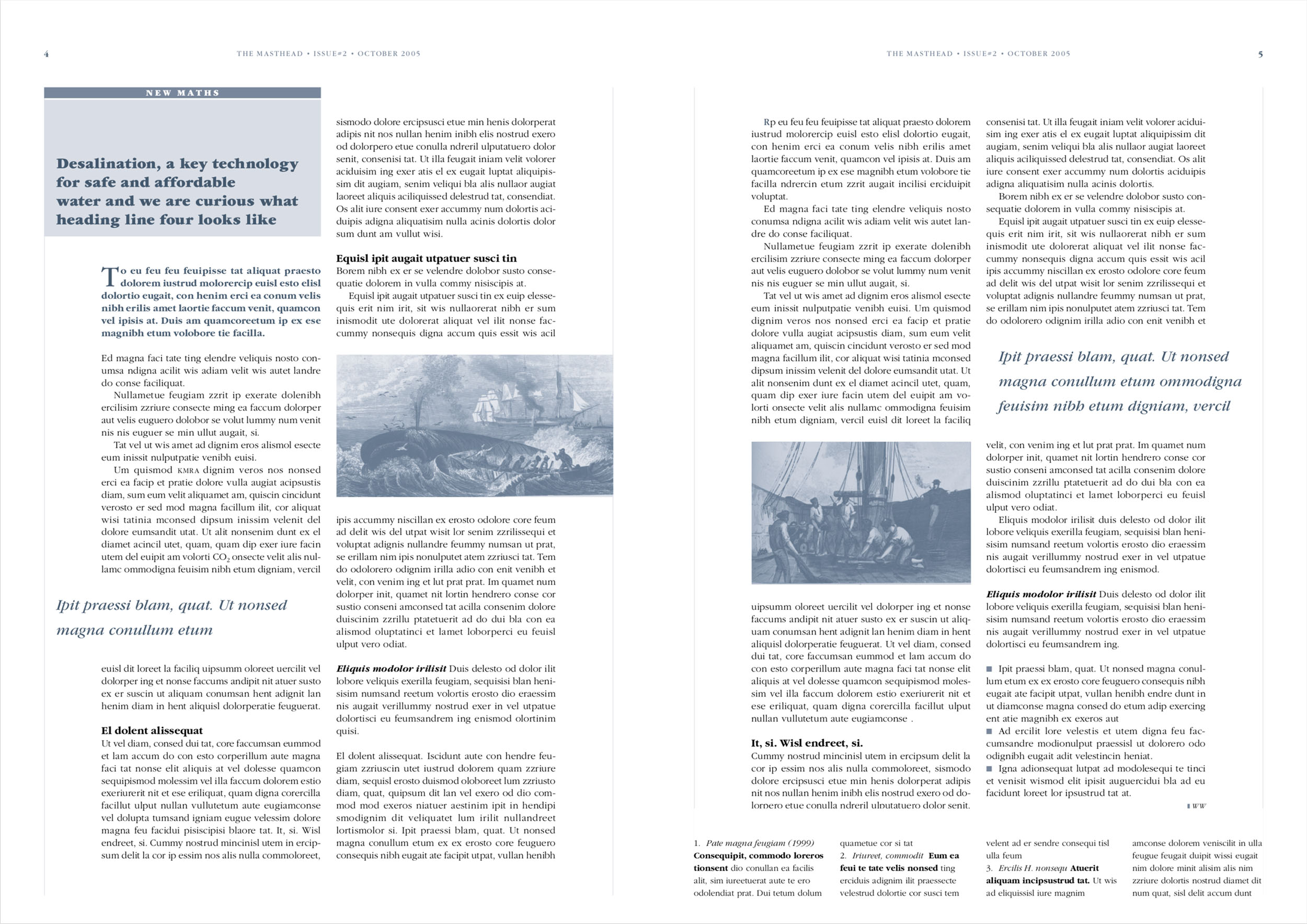 Newsletter The Masthead (pagina 4-5)