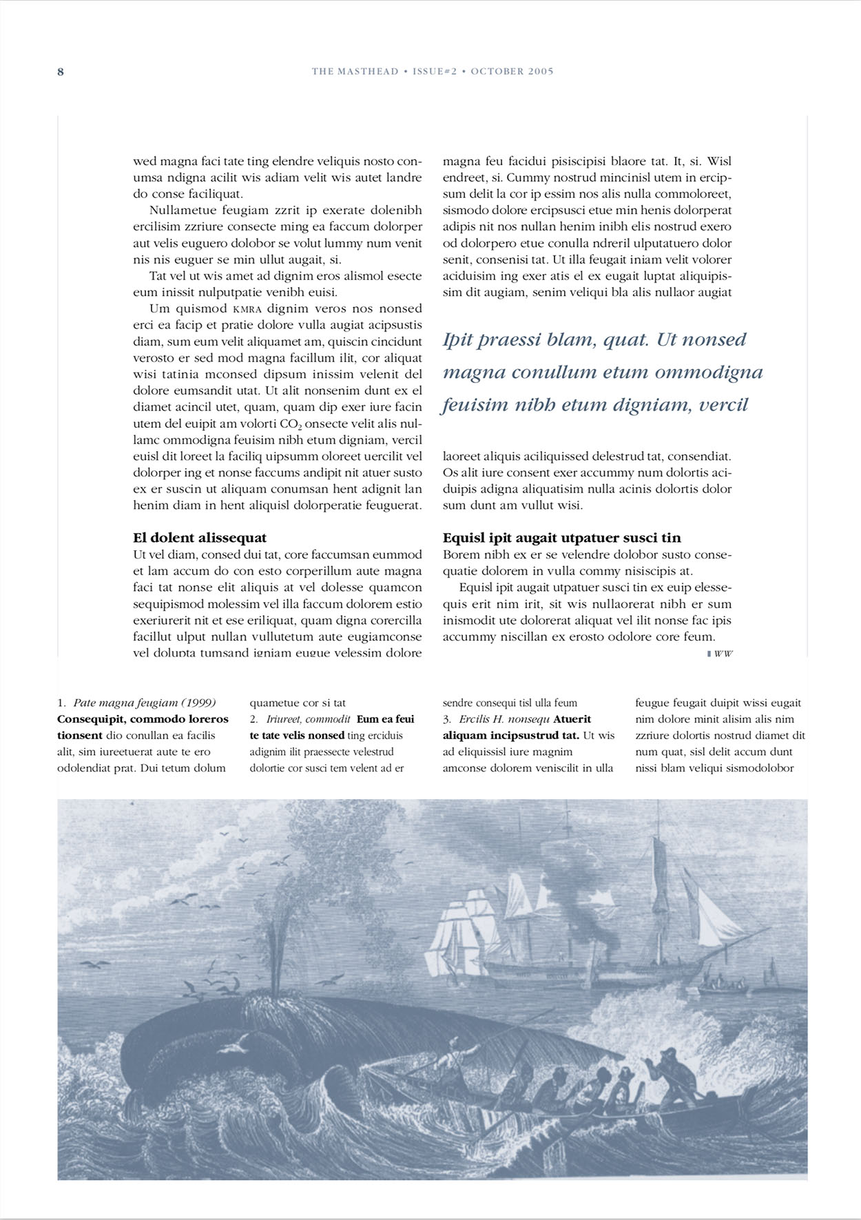 Newsletter The Masthead (achterpagina)