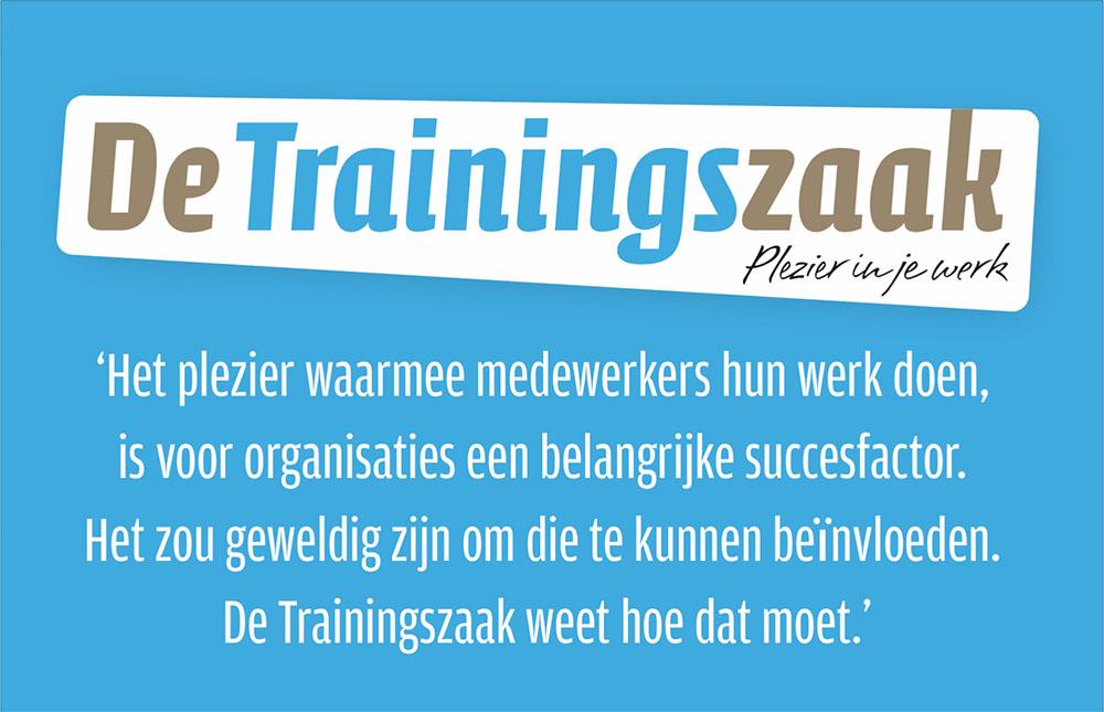 Logo en visitekaart De Trainingszaak (achterzijde)