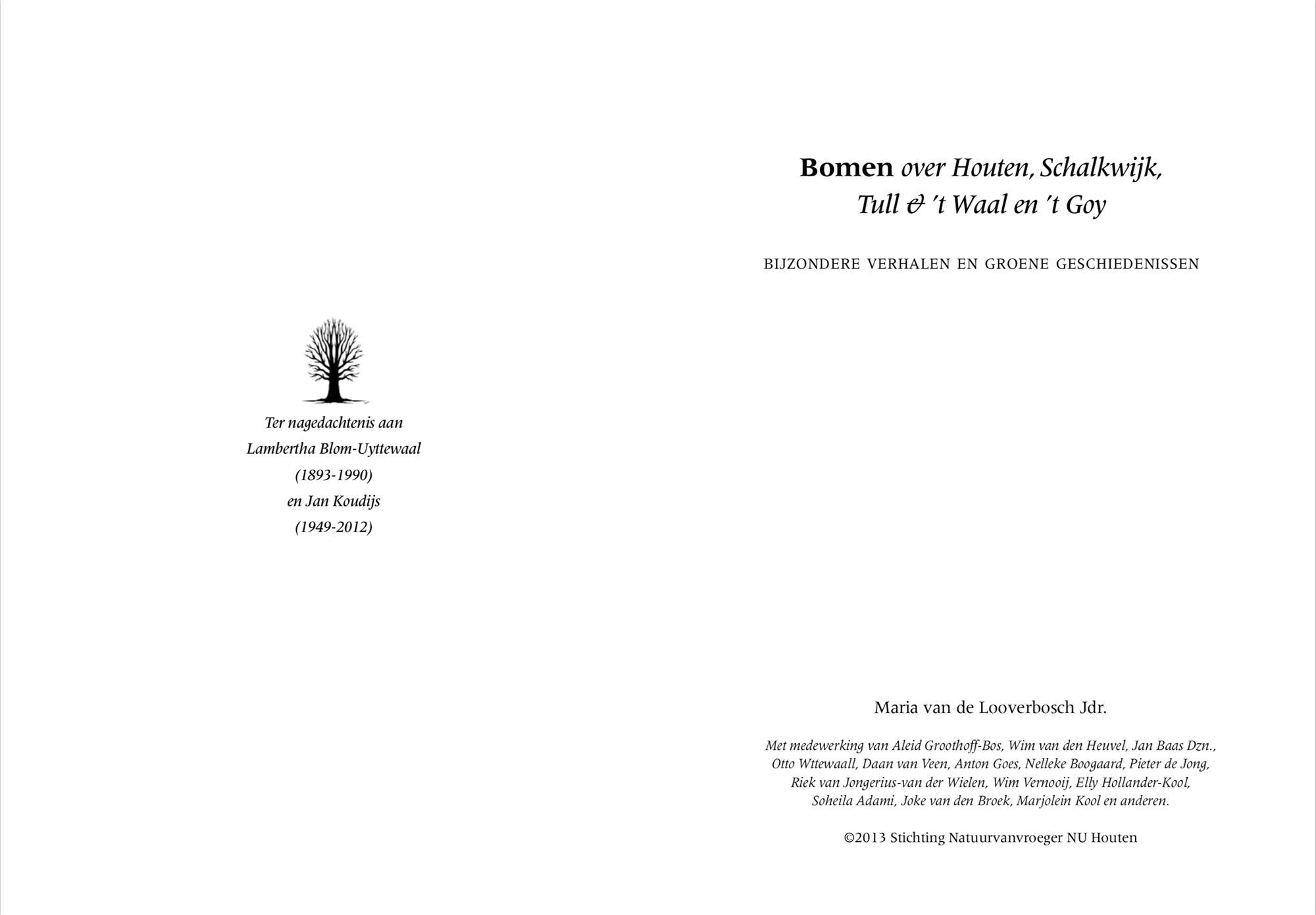 Bomen (Franse titelpagina)