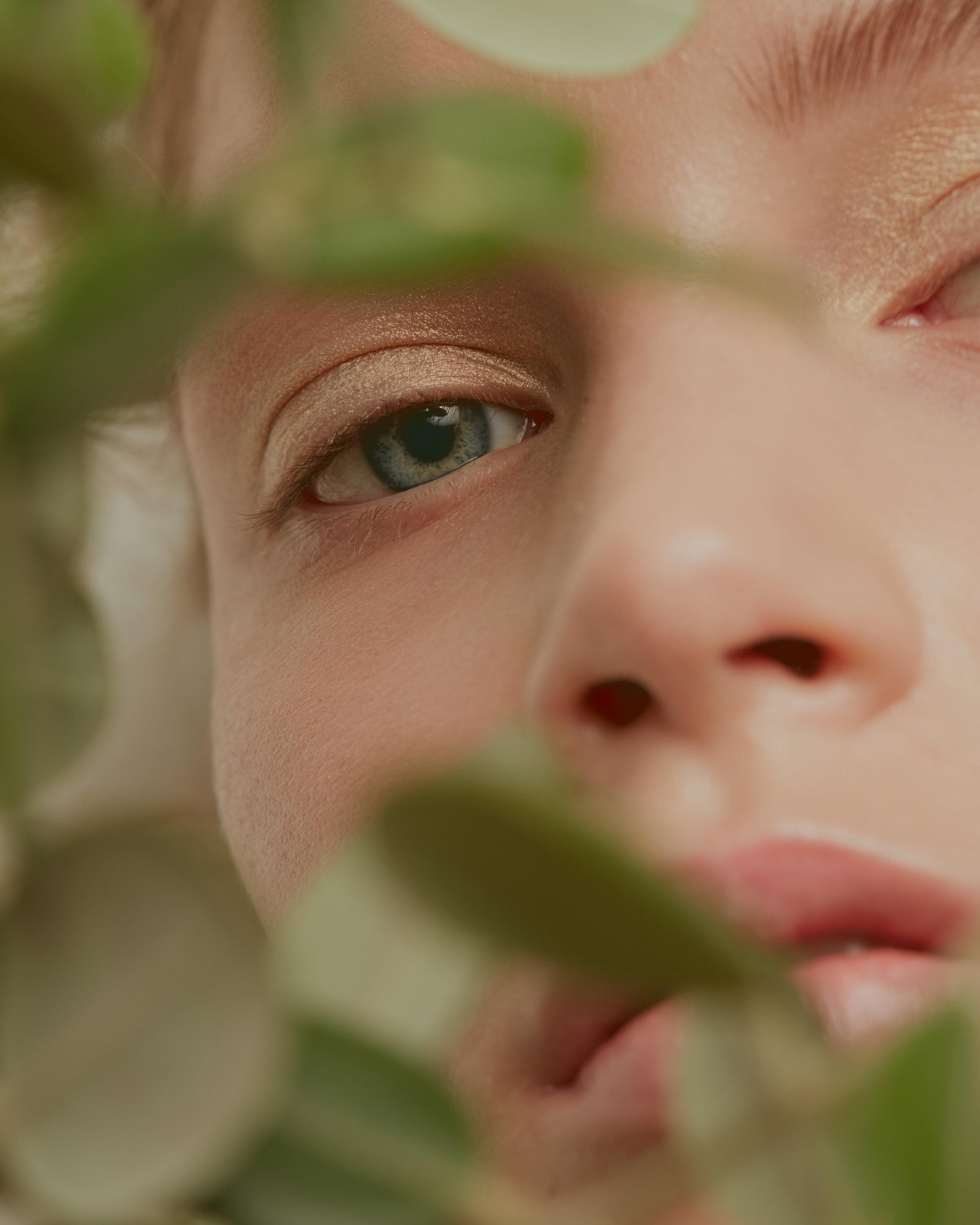 Eyeshadow KIKO. Lips DIOR BACKSTAGE. Skin PRO MAKEUP LABORATORY