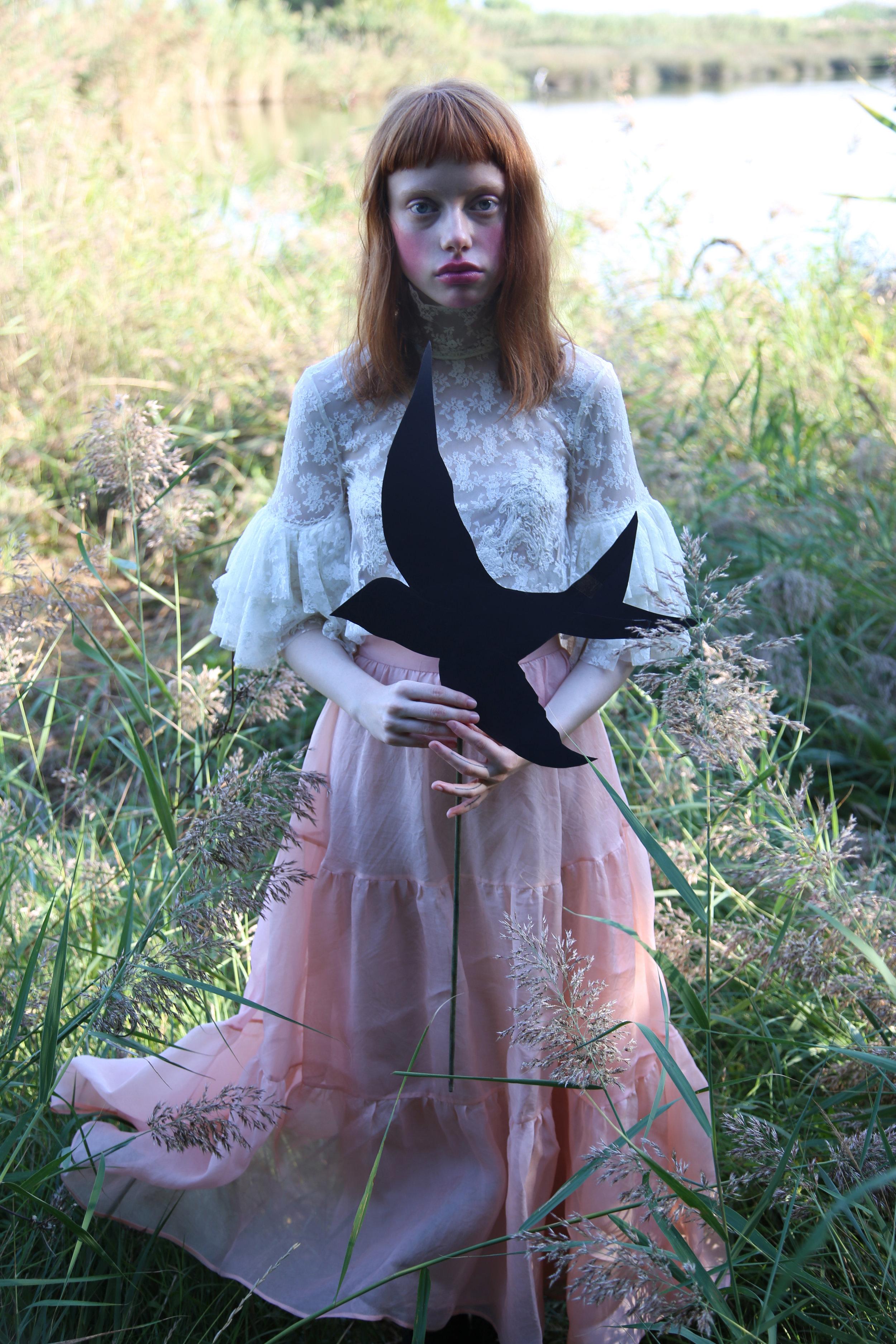 Blouse and skirt LYDIA DELGADO. Bird MAISON REDOUAN