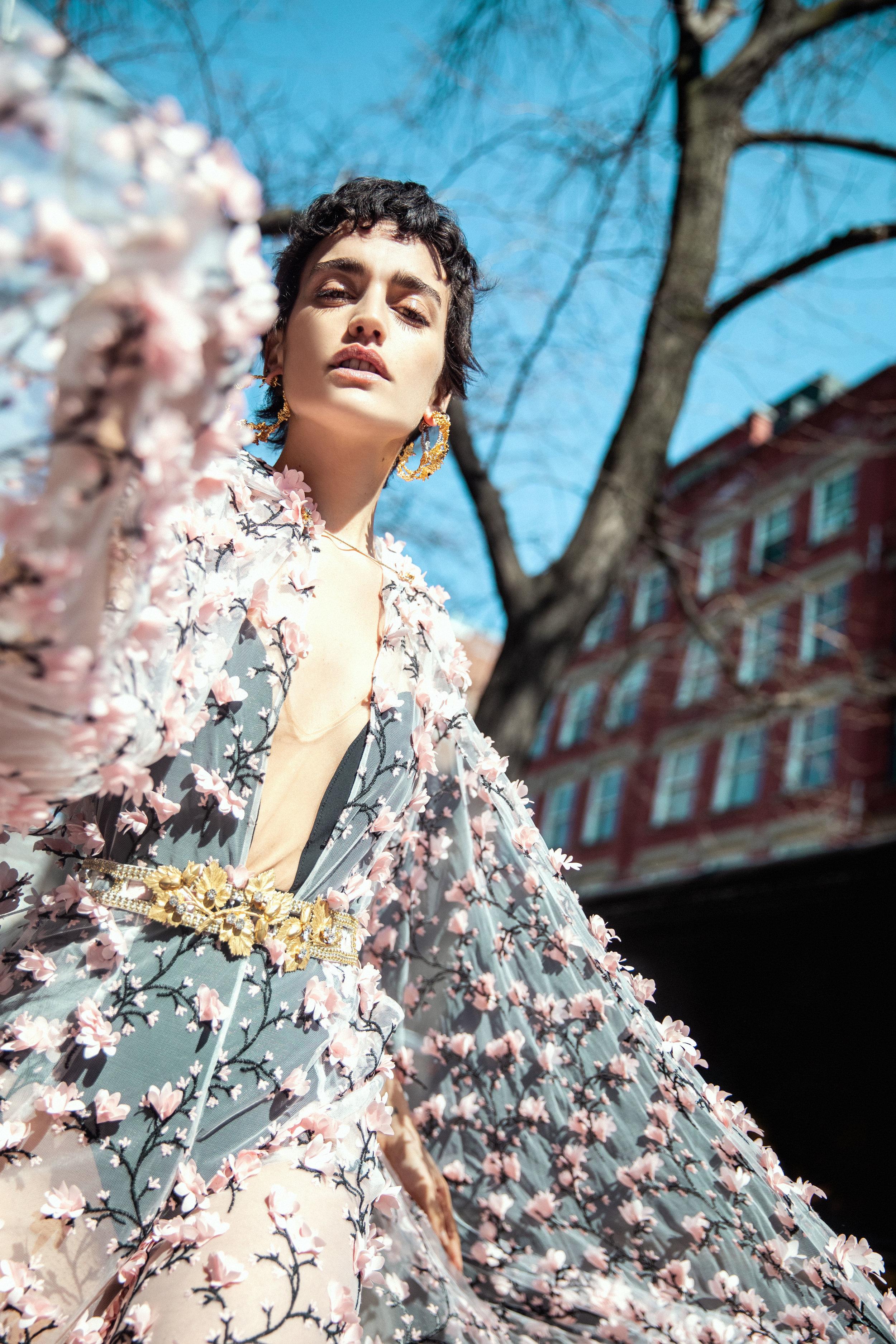Body, dress, belt SIMONE ELLIS  Earrings GBGH JEWELRY
