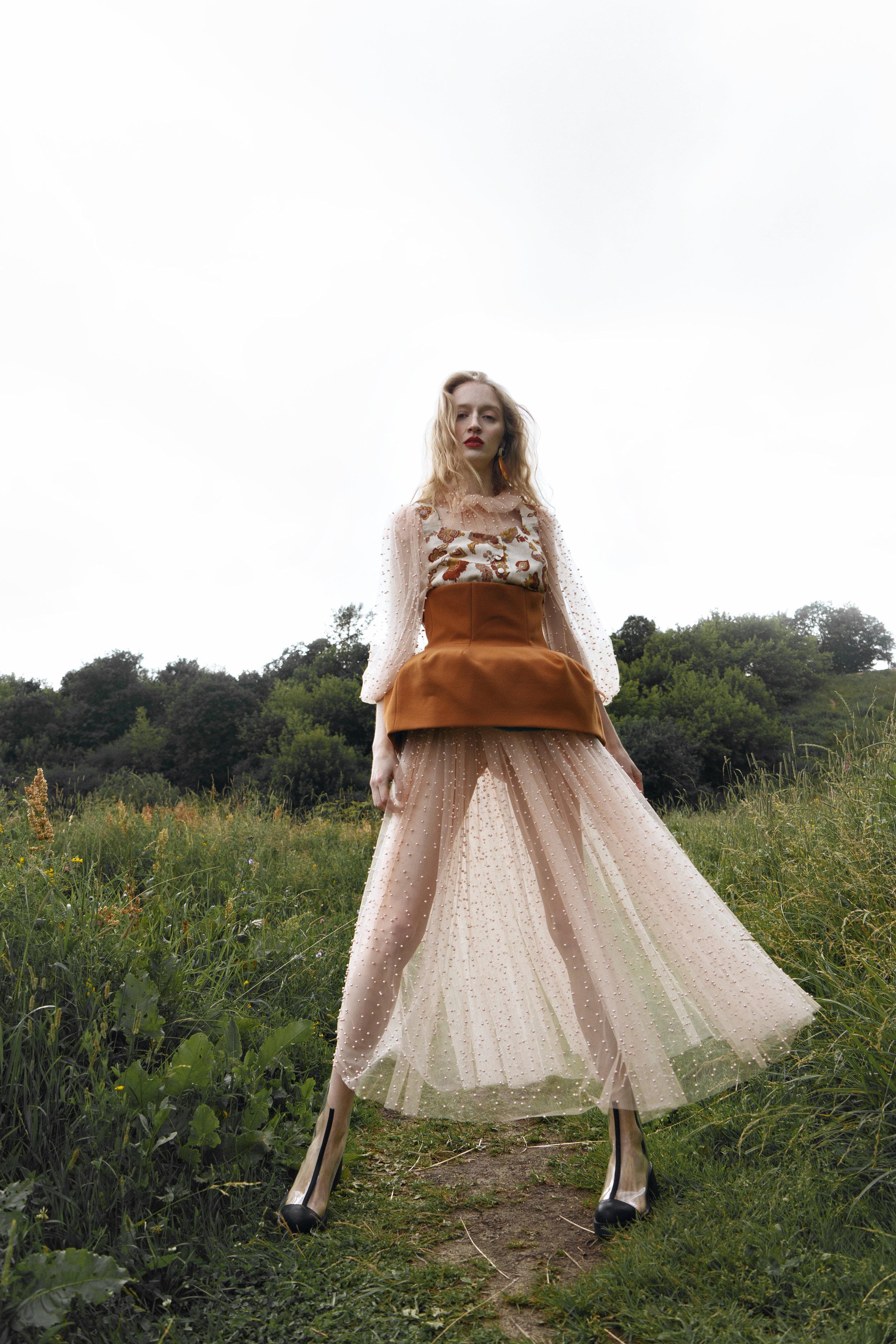 Dress and basque Marsel wear, top Volfson, boots Sintezia