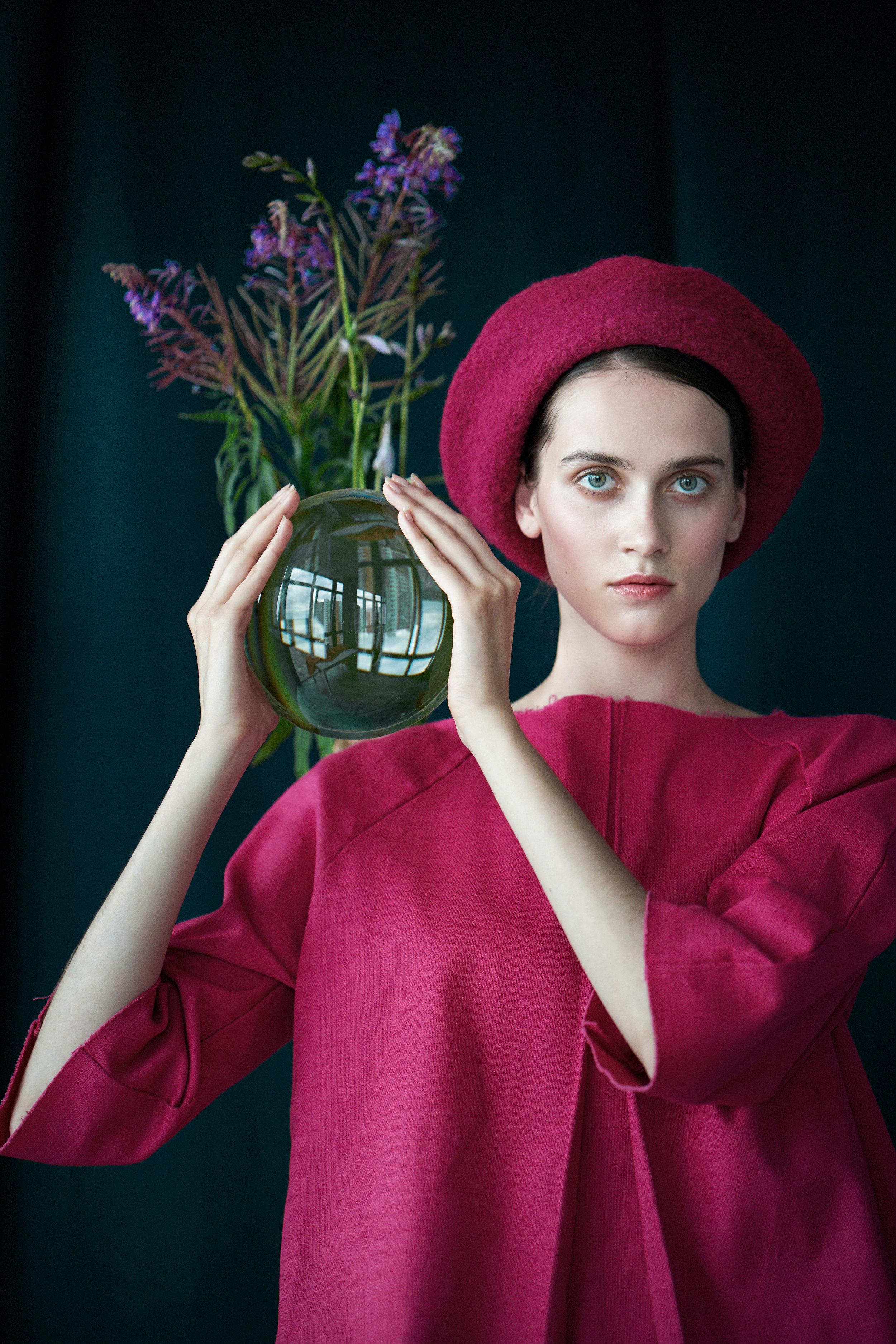 Jacket Kozel @kozel.elena.designer. Beret Kozel @kozel.elena.designer