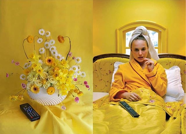 Master of the interpretation @harrietparryflowers The Darjeeling Limited by Wes Anderson 2007  #floralartist #floraldesign #floralart #flowerartist #filmlovers #floralinterpretation #yellow #visualart #stillife #flowerstylist #botanical #labotanicamagazine #labotanicamagazineart