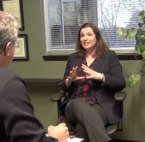 Gabrielle Usatynski providing a clinical consultation