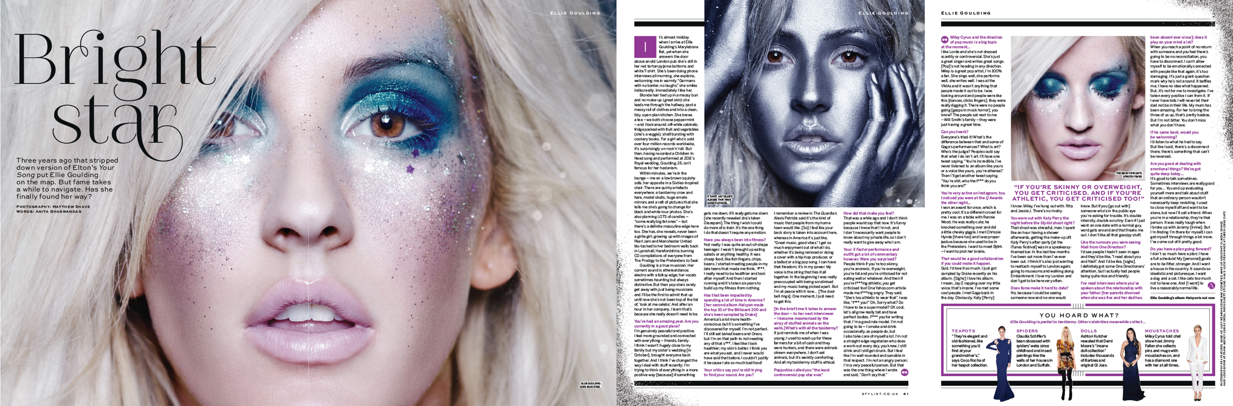 STYLIST - COVER INTERVIEW ELLIE GOULDING