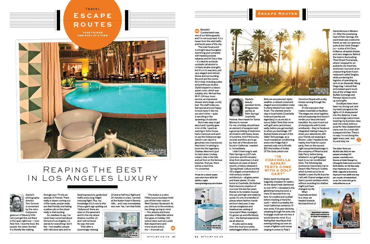 STYLIST: TRAVEL: REAPING THE BEST IN LA LUXURY