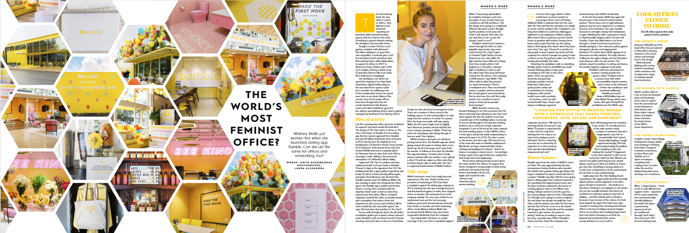 STYLIST - INTERVIEW WHITNEY WOLFE, CEO BUMBLE