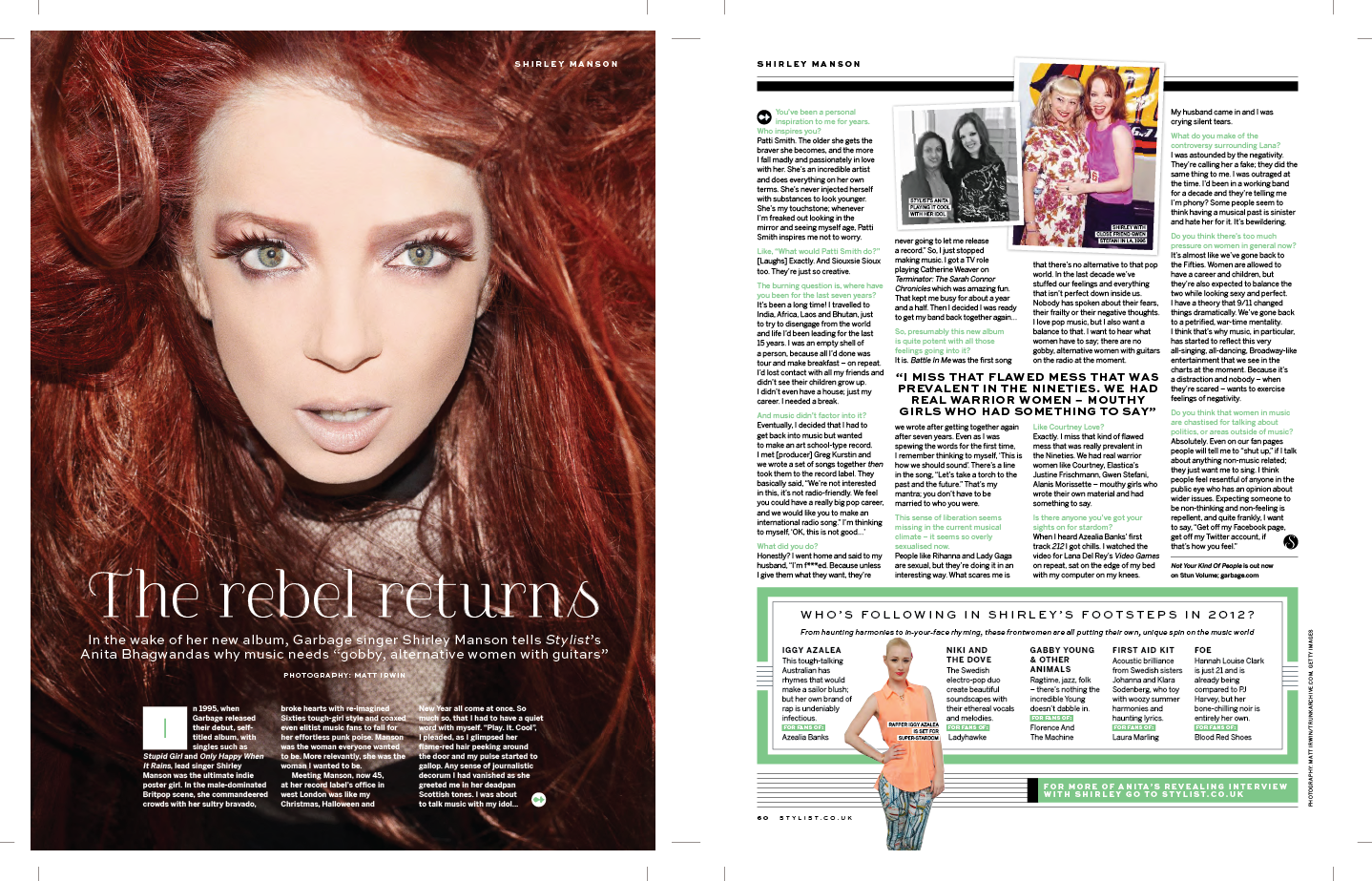 STYLIST - INTERVEIW SHIRLEY MANSON