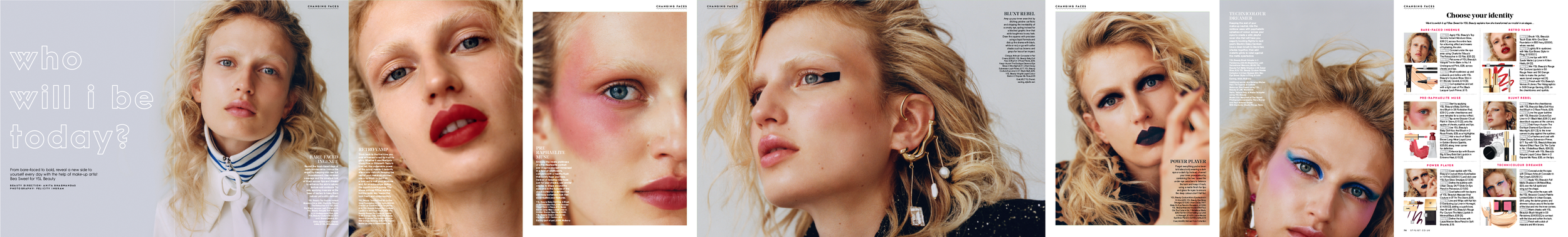 STYLIST - YSL BEAUTY SHOOT (MUA - BEA SWEET, PHOTO- FELICITY INGRAM)