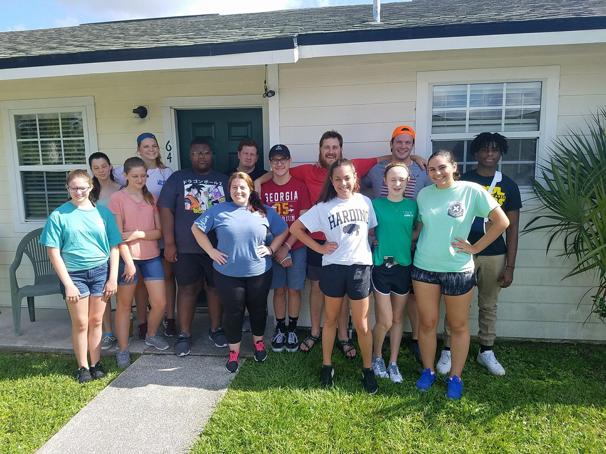 We are teenagers… - putting our faith in action at the Jacksonville Work Camp.