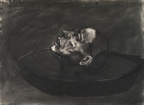 Head in a Bowl Charcoal on Paper 22x30in 2003.jpg