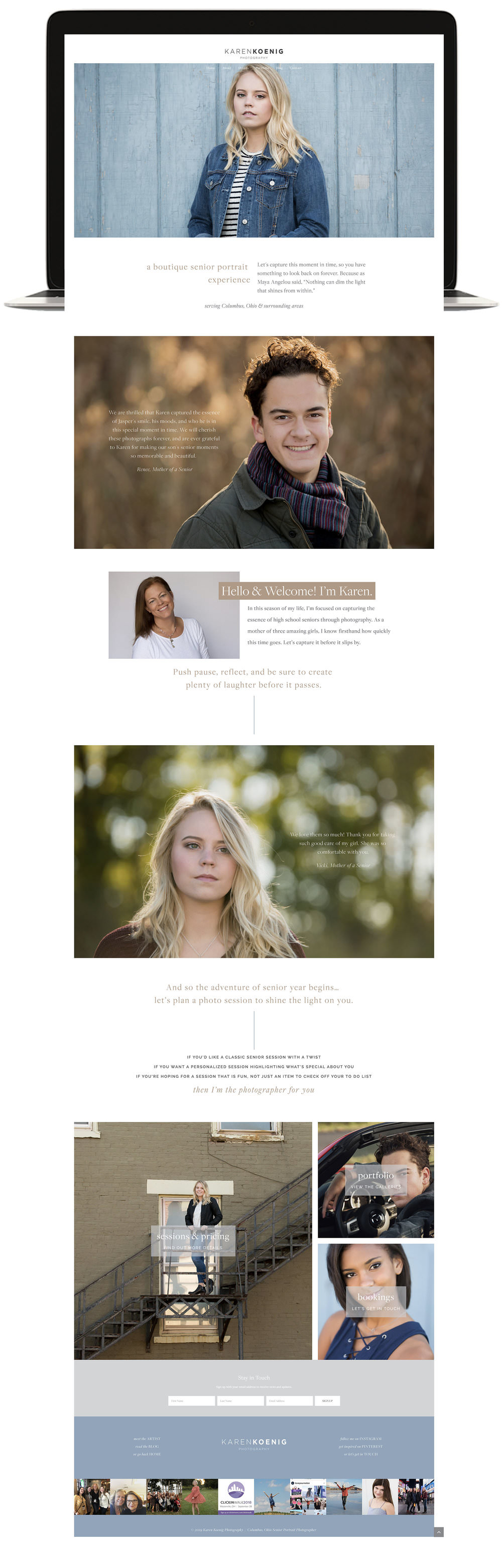 Karen Koenig Photography Squarespace Template restyle