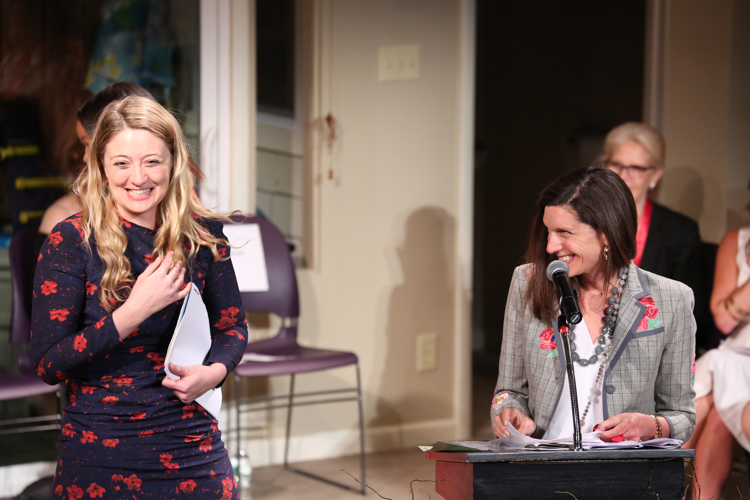 2015 LILLY AWARDS Photo 10 Heidi Schreck and Stacey Mindich .Photo by Walter McBride.jpg