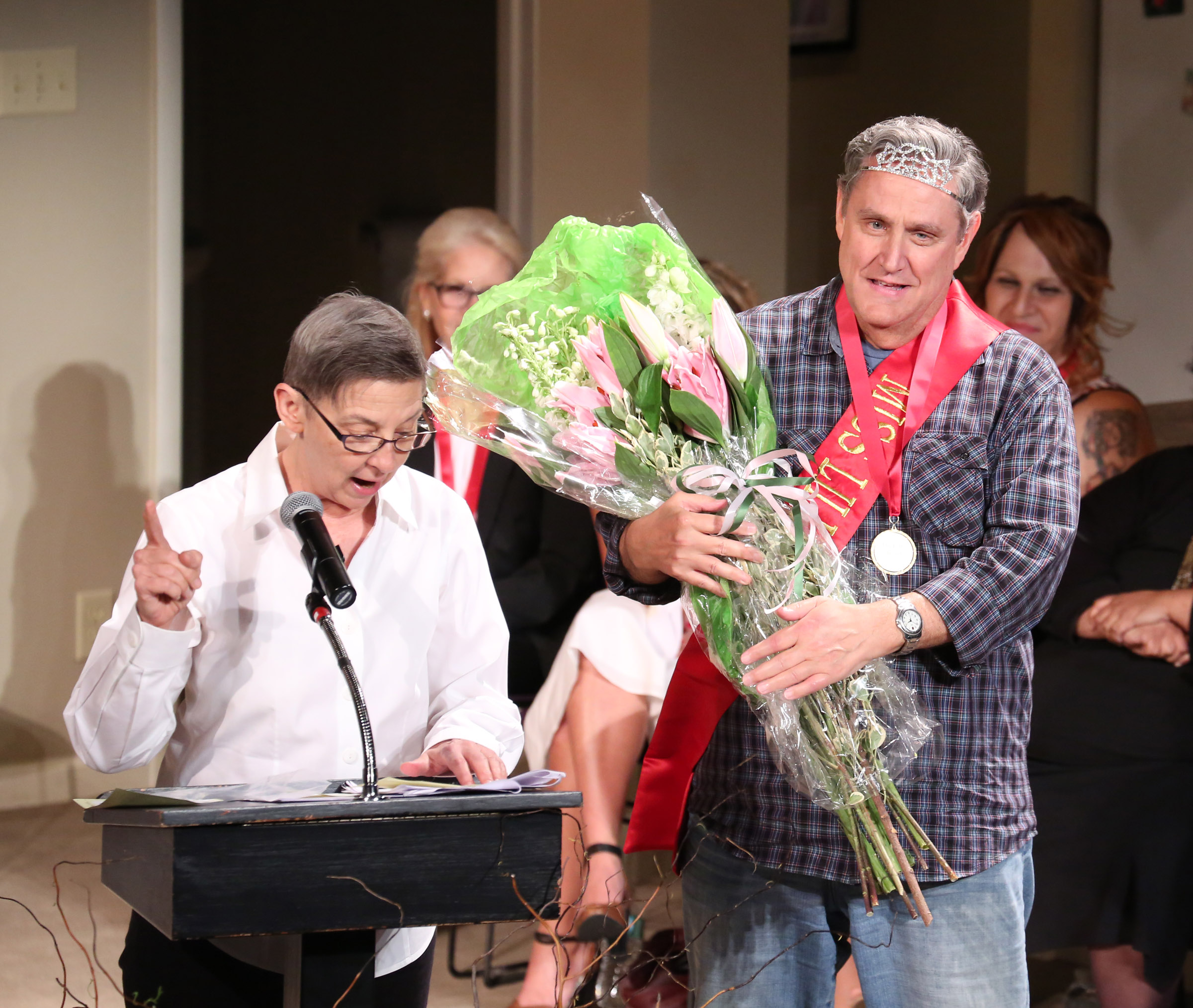 2015 LILLY AWARDS Photo 11 Linda Chapman and Jim Nicola.Photo by Walter McBride.jpg