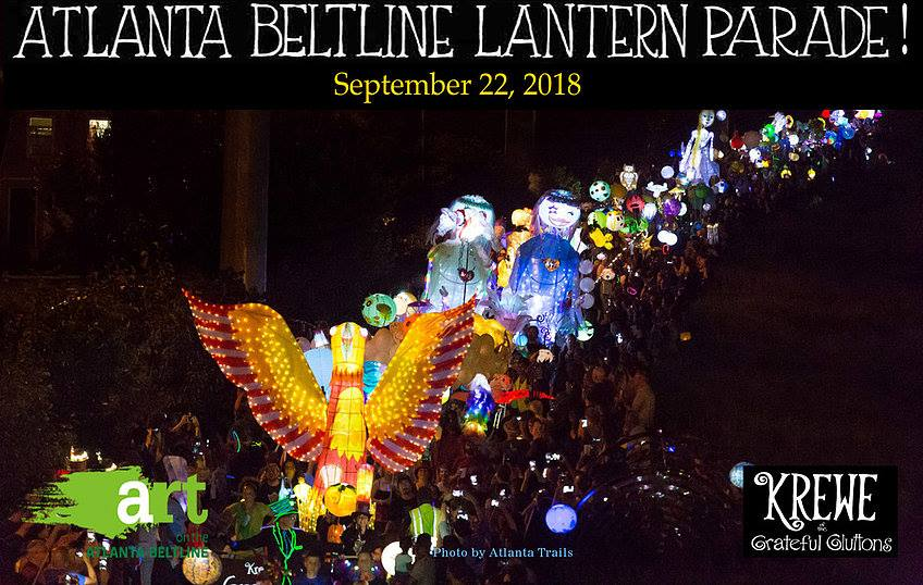 Beltline Lantern Parade - Thousands of your closest friends bring light and music to the Beltline one fall night.