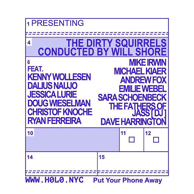 Tomorrow night @h0l0.nyc - 8pm sharp - insane band under the guidance and conduction of @w_shore ... don't miss it !