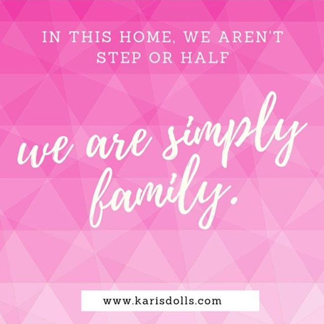 Is your family a blended family? Join us in spreading the unique family love!💕 •⠀ •⠀ •⠀ •⠀ #karisdolls #shareyourstory #featurestory #dolls #childrensdolls #adoption #adopt #adoptionrocks #grace #mommyblogger #lgbtfamily #singlemom #singledad #kids #instakids #family #familylove #stepfamilies #uniquefamily #diversefamily #mixedfamily #coparenting #blended #blendedfamily #divorce #stepmom #stepdad #stepparents #stepfamily