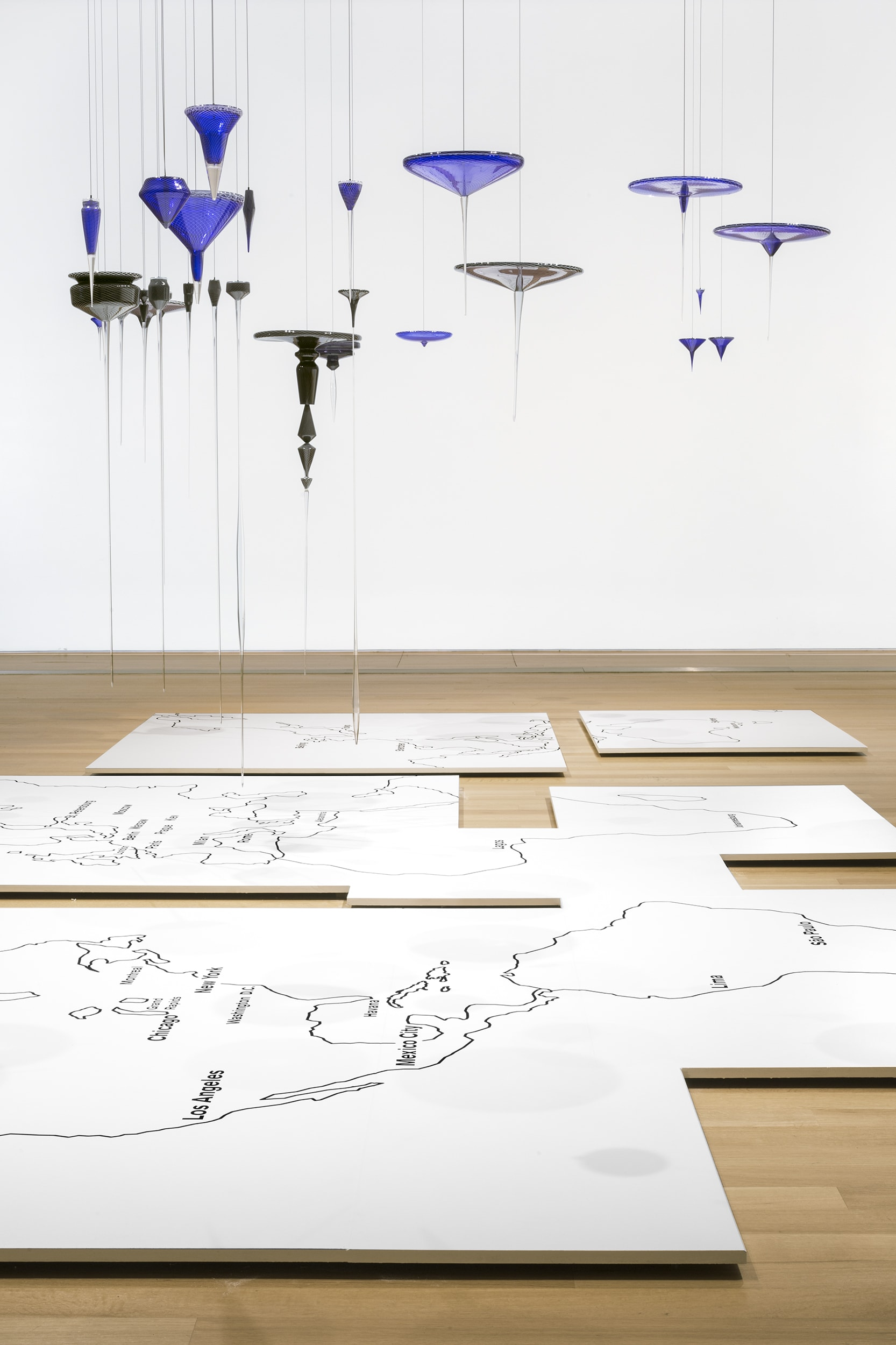 Global Cities - North America and South America (installation view)