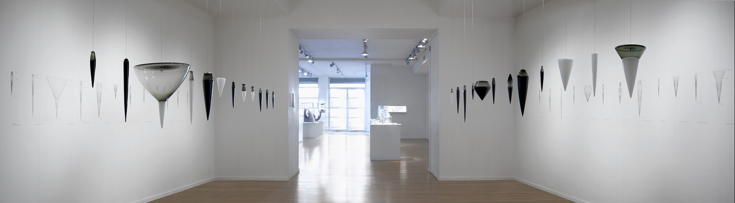 Cities: Departure and Deviation (panoramic installation view)
