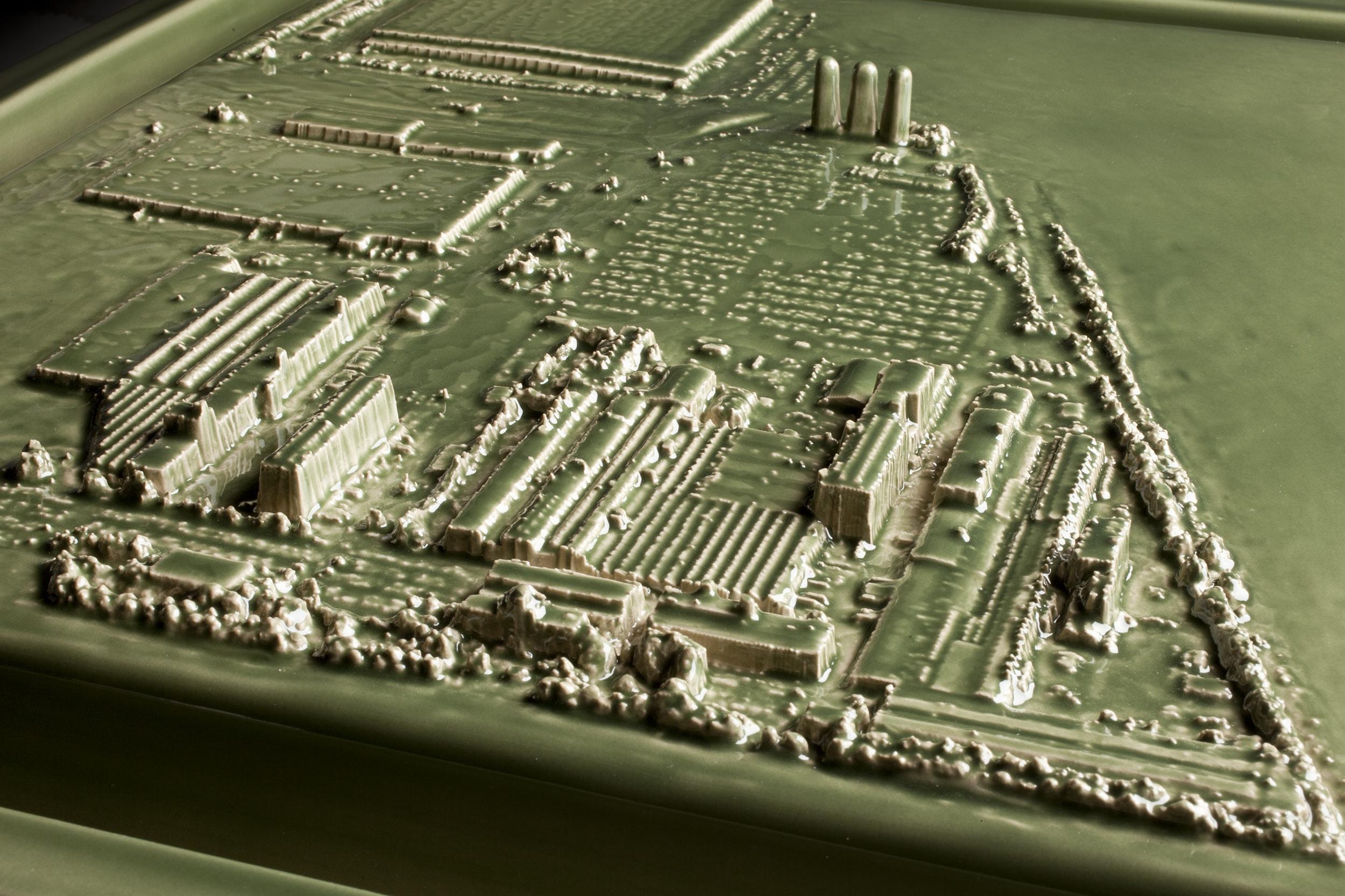 Kohler Triptych Green Factory (detail)