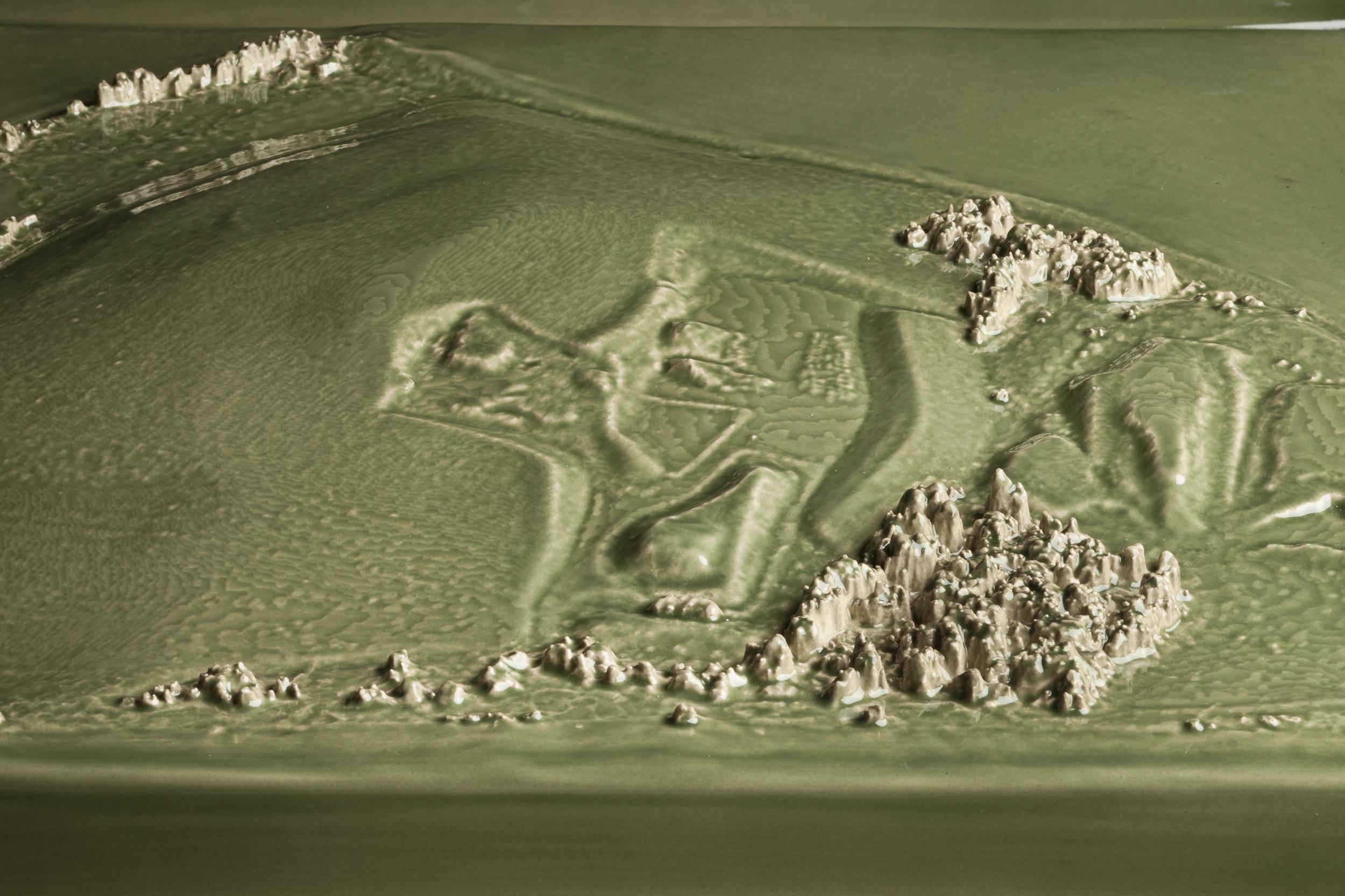Kohler Triptych Green Landfill (detail)
