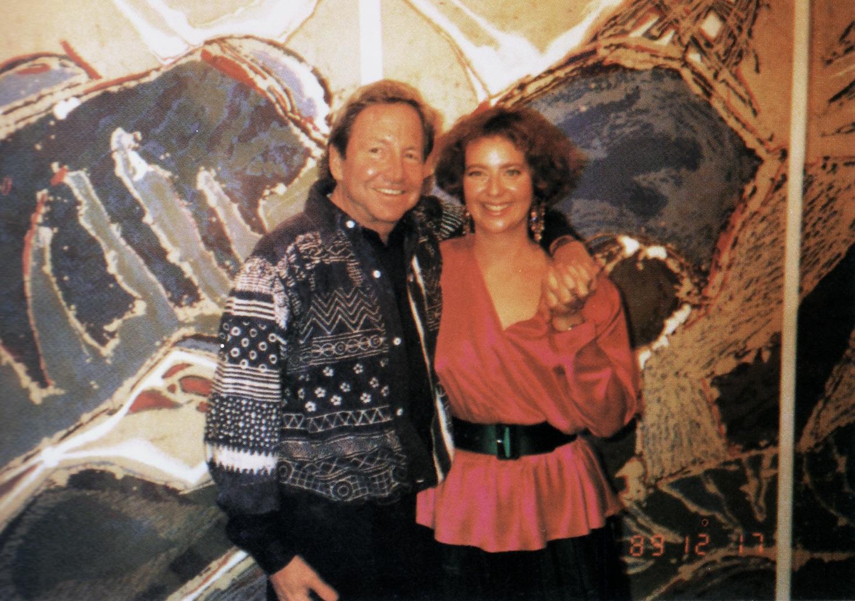 Janet with Robert Rauschenberg, 1989