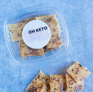 Oh Keto Crackers - Cutting carbs? Try Julie's cheesy crackers instead!